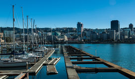 Blue Water Harbour Royalty Free Stock Photography