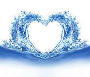 Blue water heart Stock Photo