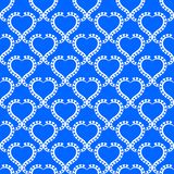 Blue Water Hearts seamless background Stock Photo