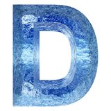 Blue water or ice font part of colletion. Concept conceptual 3D illustration blue water or ice font part of collection isolated on white background,metaphor to royalty free illustration