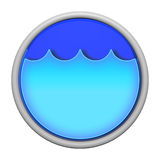 Blue water icon Stock Photos