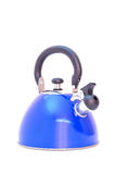 Blue water kettle for boiling water Royalty Free Stock Photography
