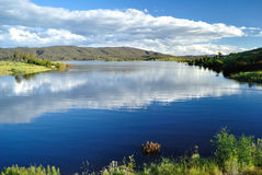 Blue water lake Royalty Free Stock Images