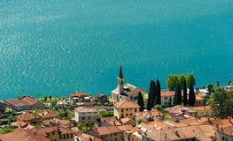 Blue water of Lake Como Royalty Free Stock Photography