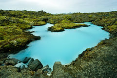 The Blue Lagoon in Iceland Royalty Free Stock Photos