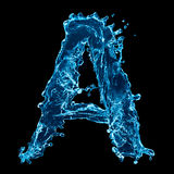 Blue water letter Stock Images