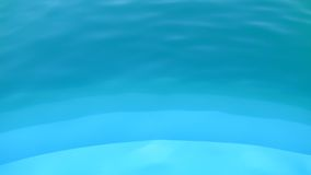 Blue water - level in the pool Royalty Free Stock Photo
