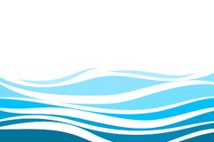 Free Blue Water Lines Wave Concept Vector Abstract Background Royalty Free Stock Image - 148728936