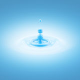 Blue water liquid drop abstract background Royalty Free Stock Image