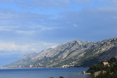 Blue water of Makarska Riviera Stock Images