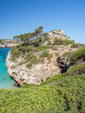 Blue water in Mallorca Coastline Royalty Free Stock Photography
