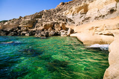 Blue water of Malta Royalty Free Stock Image
