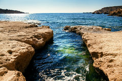 Blue water of Malta Royalty Free Stock Photo