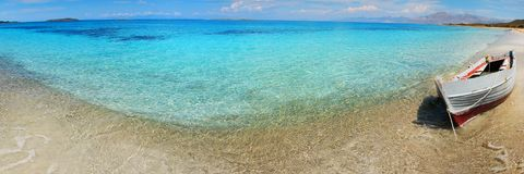 Blue water in the mediterranean sea Royalty Free Stock Photography