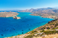 Blue water of Mirabello bay on Crete Stock Image
