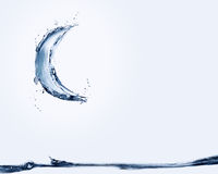Blue Water Moon Floating Stock Photography