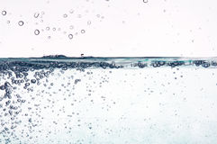 Blue Water In Motion Stock Photography