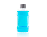 Blue water mouthwash isolate Royalty Free Stock Images