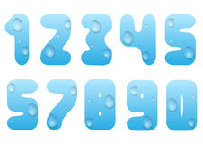 Blue water numbers Stock Photos
