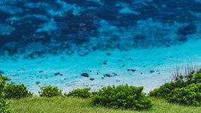 Blue Water on Nyangnyang Beach, Uluwatu, Bali. Blue Water on Nyangnyang Beach, Uluwatu - Bali stock photo