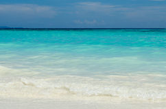 Blue water of the ocean in Koh Tachai, Similan Islands, Thailand. Koh Tachai in Similan Islands National Park, thailand Stock Images