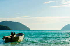 Blue water of the ocean at Mu Koh Surin, Similan Islands, Thailand Stock Photography