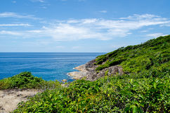 Blue water of the ocean in view point of Koh Tachai, Similan Islands, Thailand. Royalty Free Stock Image