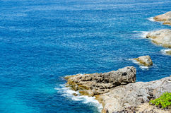 Blue water of the ocean in view point of Koh Tachai, Similan Islands, Thailand. Royalty Free Stock Photos