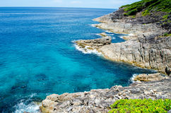 Blue water of the ocean in view point of Koh Tachai, Similan Islands, Thailand. Koh Tachai in Similan Islands National Park, thailand Royalty Free Stock Photo