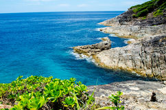 Blue water of the ocean in view point of Koh Tachai, Similan Islands, Thailand. Stock Photo