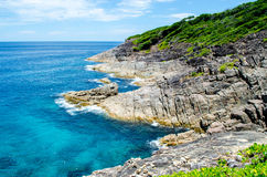 Blue water of the ocean in view point of Koh Tachai, Similan Islands, Thailand. Koh Tachai in Similan Islands National Park, thailand Stock Photo