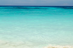 Blue water of the ocean and white sand, Similan Islands, Thailand. Royalty Free Stock Photography