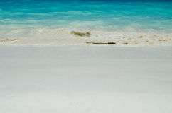 Blue water of the ocean and white sand, Similan Islands, Thailand. Stock Image
