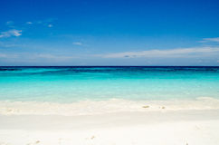 Blue water of the ocean and white sand, Similan Islands, Thailand. Stock Photo