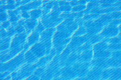Blue water in the pool Stock Photo