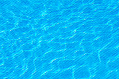 Blue water in the pool Royalty Free Stock Photo