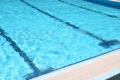 Blue water of pool Royalty Free Stock Image