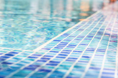 Blue Water in pool and blue mosaic. Parts stock photo