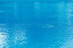 Blue water in the pool close up.  Royalty Free Stock Photo