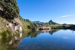 Blue water pool in the Maluti's Stock Images