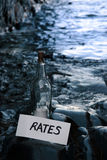 Blue water rates Royalty Free Stock Photos