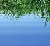 Blue water and reflect Royalty Free Stock Image