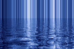 Blue water reflections. Stock Image
