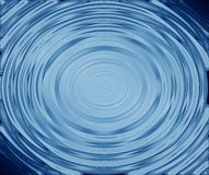 Blue water rings. Illustration of blue water rings Stock Photos