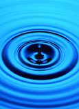 Blue Water Ripple Drop Stock Image