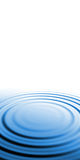 Blue Water Ripples Royalty Free Stock Photos