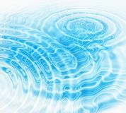 Blue water ripples abstract background. Abstract background with blue radial water ripples Stock Photo