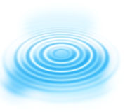 Blue water ripples abstract background. Abstract background with blue radial water ripples stock illustration