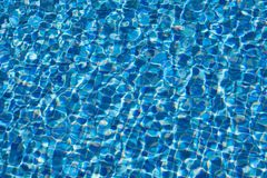Water ripples texture in swimming pool. Blue water ripples texture in swimming pool Stock Photography