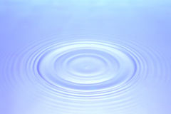 Blue water rippling Royalty Free Stock Images